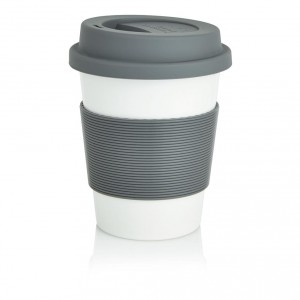 MUG GOBELET PP RECYCLABLE ET SILICONE JUSTINE PUBLICITAIRE