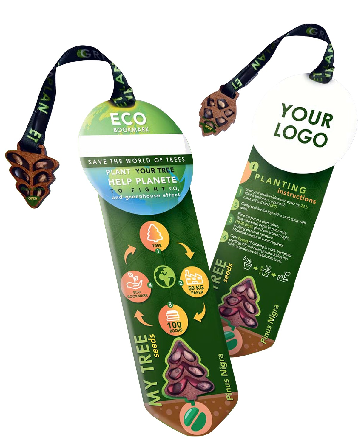 MARQUE PAGES RECYCLE AVEC GRAINES EUROPE