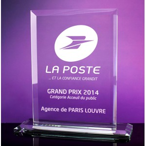 TROPHEE VERRE RECTANGLE NARVA PUBLICITAIRE