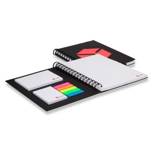 CARNET BLOC DE NOTES QUADRI AVEC SET MEMO JULIA PUBLICITAIRE