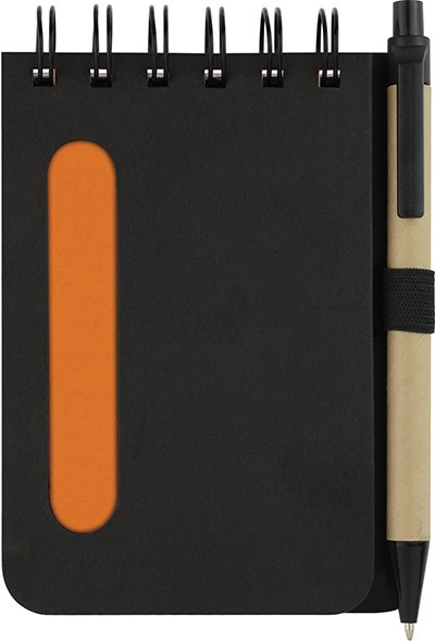 BLOC NOTES CARNET RECYCLE AVEC STYLO ACTION